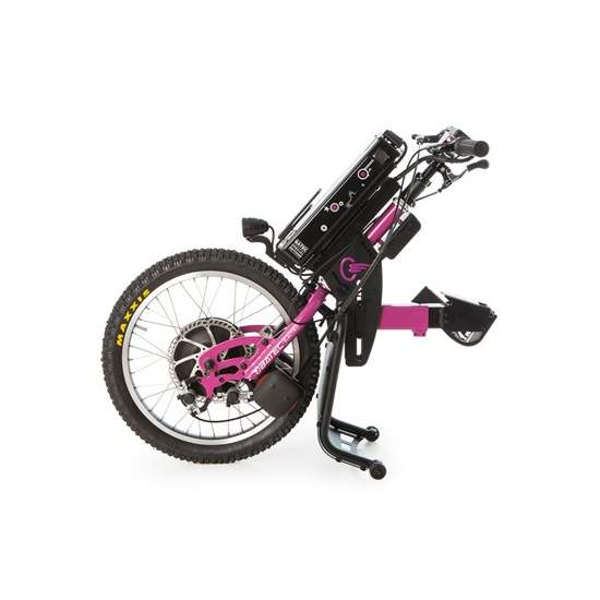 Purple BATEC handbike ELECTRIC -  With a handbike BATEC ELECTRIC Purple will have a 2 in 1: a single solution that will revolutionize your mobility outdoors without having to give up the benefits of your manual wheelchair. It is the ultimate mobility tool.