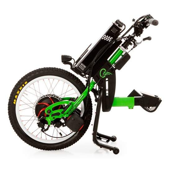 Tetra Rapid handbike BATEC -  The RAPID BATEC a Special Edition of Tetra ELECTRIC BATEC handbike designed for more advanced users. Kawasaki green color, BATEC RAPID has unique components such as hydraulic brakes, handlebars and fender carbon fiber and which...