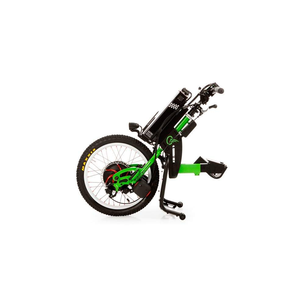 Tetra Rapid handbike BATEC -  The RAPID BATEC a Special Edition of Tetra ELECTRIC BATEC handbike designed for more advanced users. Kawasaki green color, BATEC RAPID has unique components such as hydraulic...