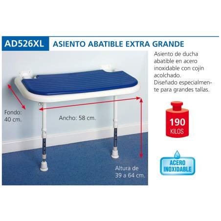 Extra large folding seat AD526XL