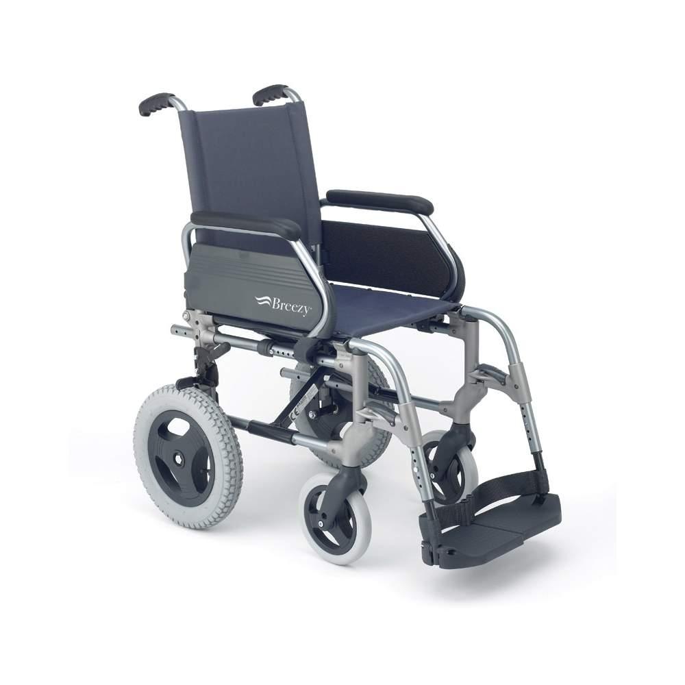 Silla de ruedas plegable breezy 300 ruedas peque as - Sillas de ruedas de aluminio plegables ...