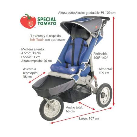 Silla carrito Buggy Jogger special tomato