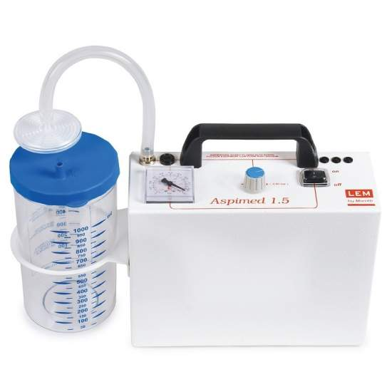 Portable suction secretions. Aspiration 18 liters minute. - Portable suction secretions. Aspiration 18 liters minute.
