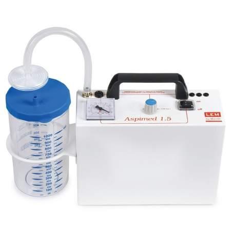 Portable suction secretions. Aspiration 18 liters minute.