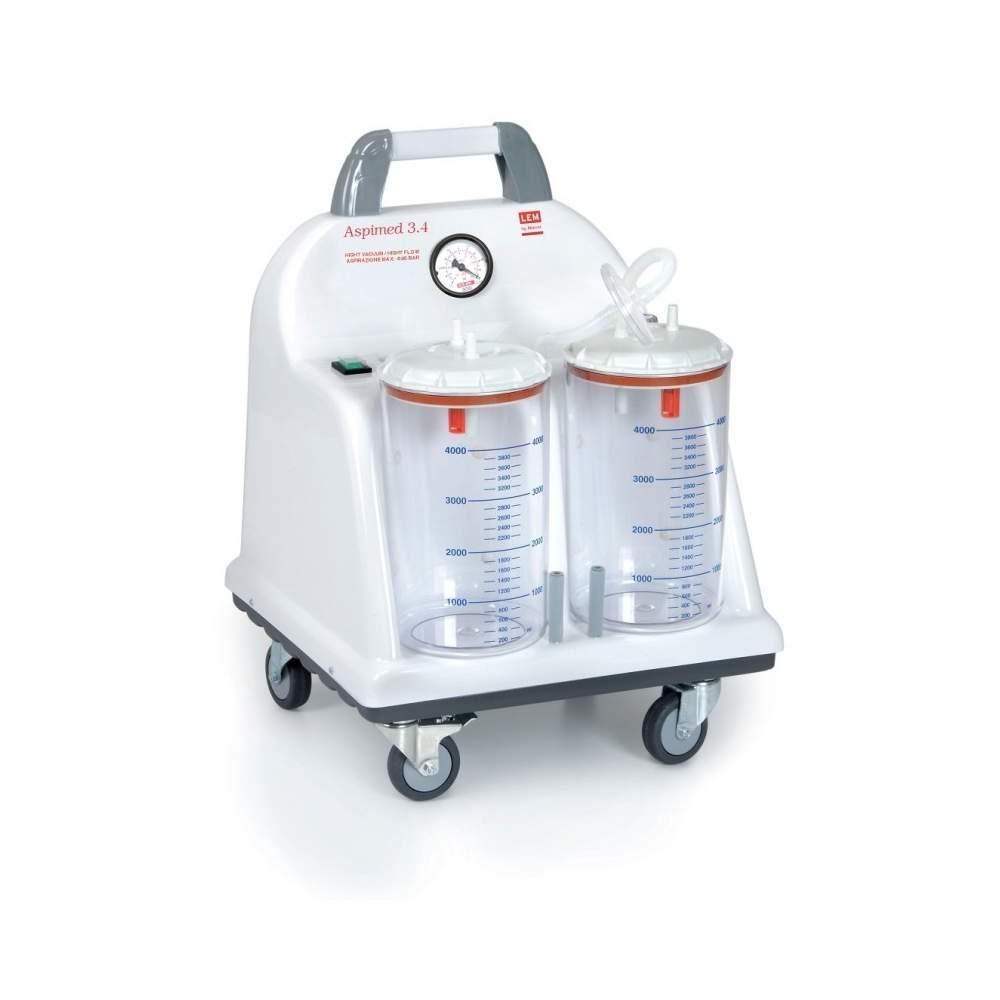Vácuo portátil de sucção cirúrgica 90 litros minuto