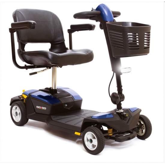 Scooter GOGO-LX de 4 ruedas y suspensión - Nuevo modelo de scooter GO-GO LX con suspensión De gran confort y reducidas dimensiones, con las prestaciones de scooters de mayor tamaño. Incorpora suspensión independiente en cada rueda y un mayor tamaño de la plataforma de apoyo de...