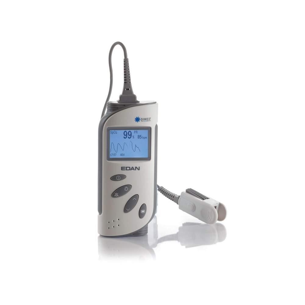 Oxymètre de pouls portable avec alarmes et tableau de commande du moniteur.