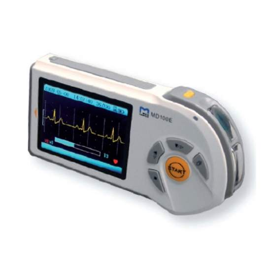 1-channel portable electrocardiograph with color LCD - 1-channel portable electrocardiograph with color LCD screen, without wires or electrodes, rapid measurement in 30 seconds, measured heart rate ...