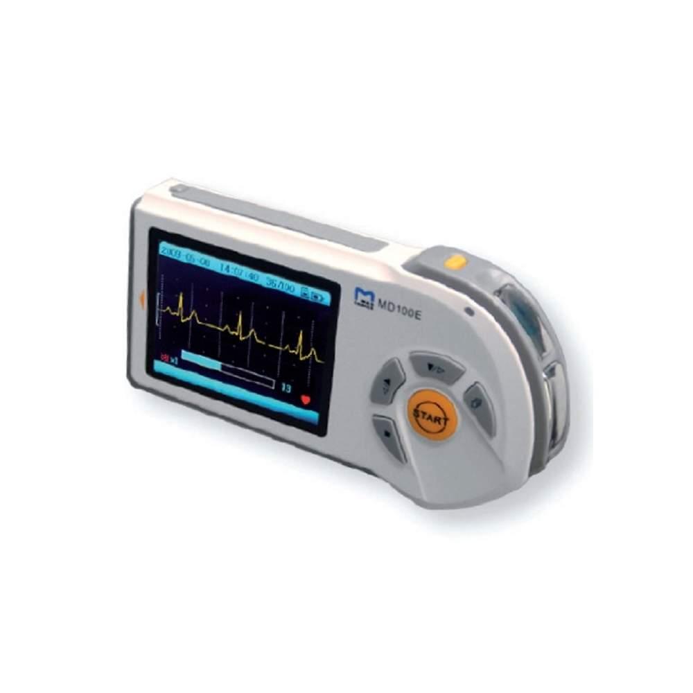Eletrocardiógrafo portátil de 1 canal com LCD a cores