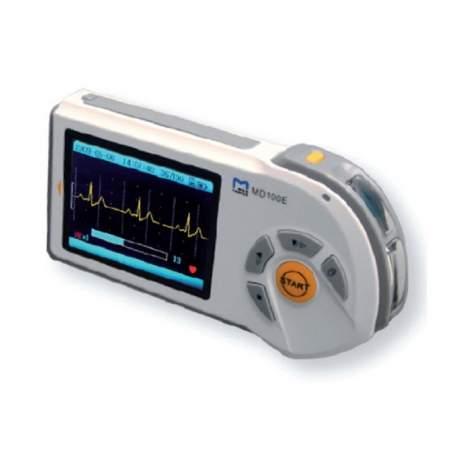 Électrocardiographe portatif 1 canaux avec écran LCD couleur