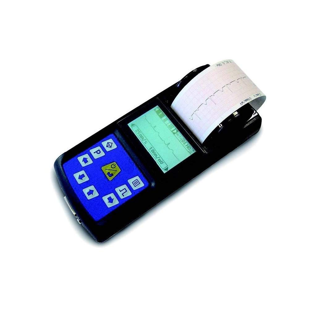 Electrocardiografo portatil de 1 canal para trabajar en tiempo real. - Electrocardiografo portatil de 1 canal para trabajar en tiempo real.