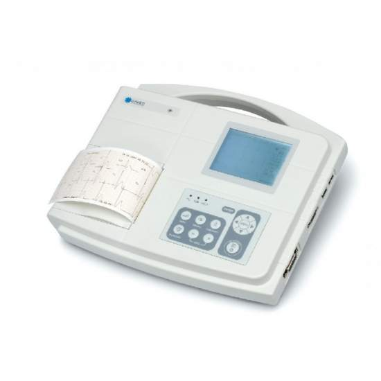 Electrocardiografo de 1/3 canales con interpretacion del diagnostico. - Electrocardiografo de 1/3 canales con interpretacion del diagnostico. Analisis automatico de los parametros del e.c.g.