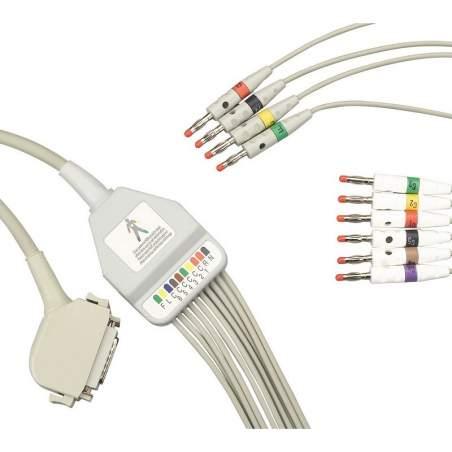 Eletrocardiógrafo cabo do paciente.