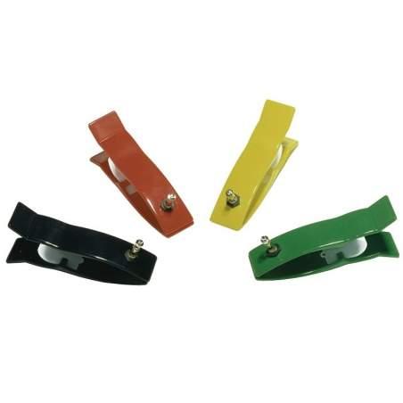 Eléctrodos de fixação dos membros para eletrocardiógrafo pediátrica. Conexão Universal 4 peças.