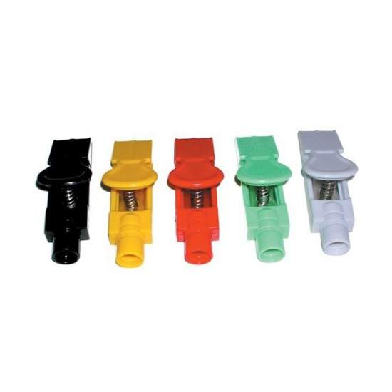 Adapter clip / stamp kit (Seal) (Seal) - Adapter clip / stamp kit (seal). 10 pieces: 6 white - 1 black - 1 red - 1 yellow - 1 green. To electrocardiograph.