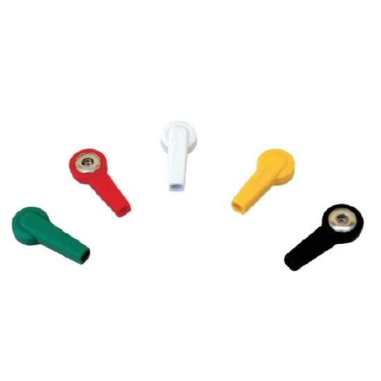 Kit adaptador clip. 10 piezas - Kit adaptador clip. 10 piezas : 6 blancas - 1 negra - 1 roja - 1 amarilla - 1 verde. Para electrocardiografo.
