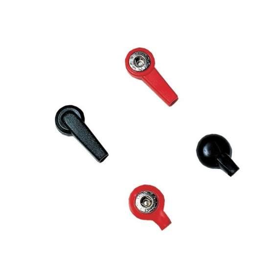 Adattatore clip 4 millimetri buco nero femminile.