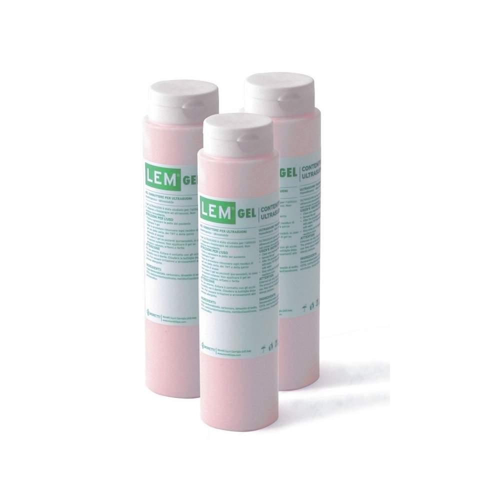 Embalagem de 25 unidades de gel incolor eletrocardiógrafo 260 gr.