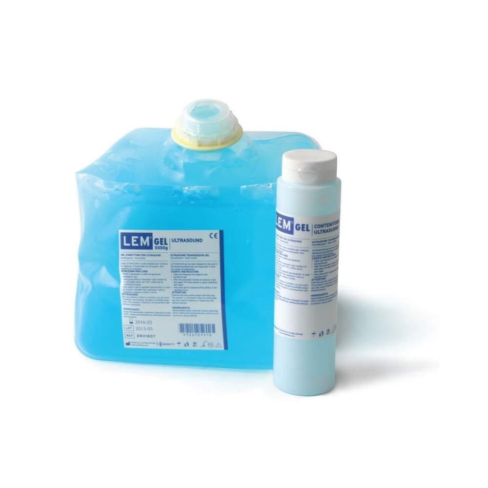 Gel ultrasonidos 5 kg color azul. Con dispensador rellenable de 260 gr. - Gel ultrasonidos 5 kg color azul. Con dispensador rellenable de 260 gr.