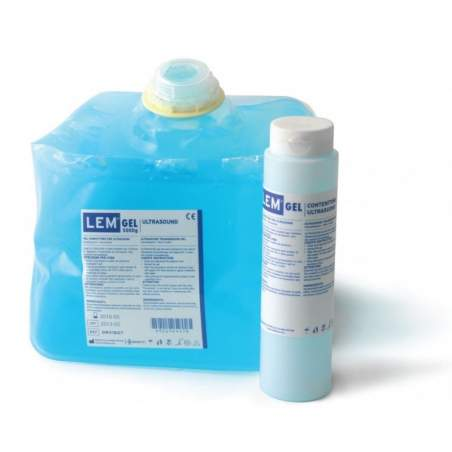 5kg ultrasound gel blue. Refillable dispenser with 260 gr.
