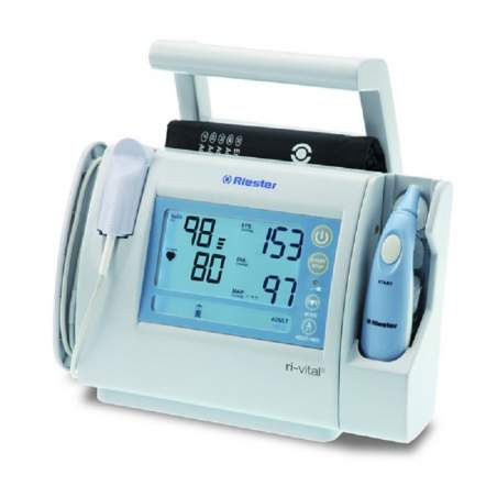 Monitor de Riester ri-vital-1951-107. Pressão arterial não invasiva e mídia.