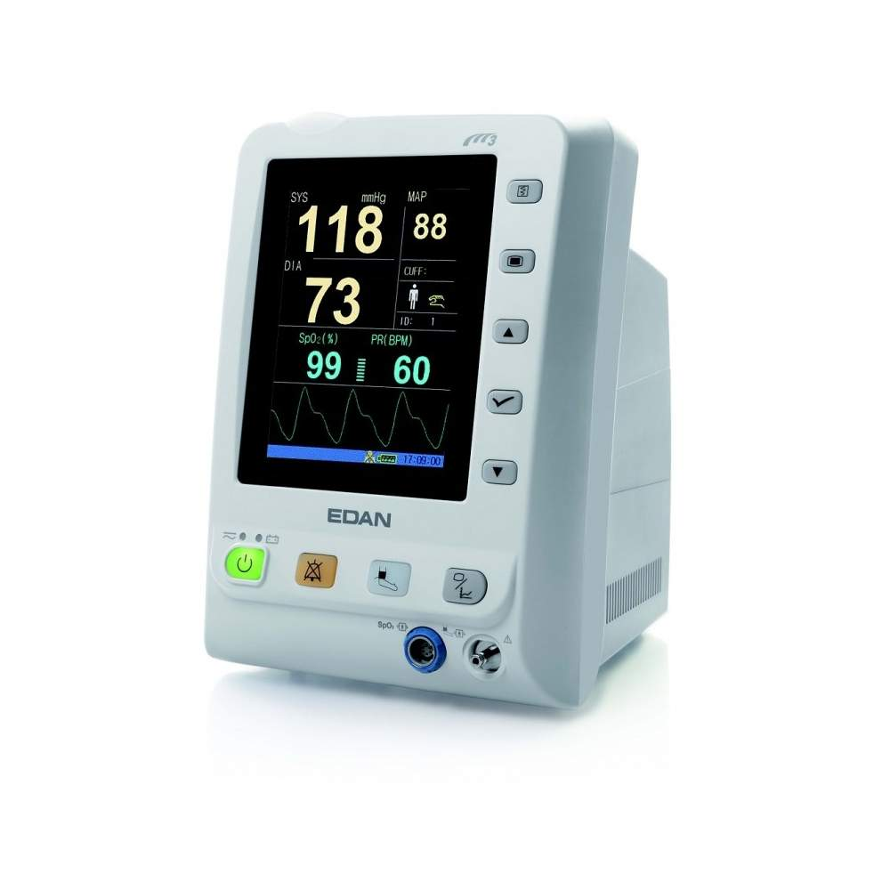 SpO2 vital signs monitor with color LCD screen.