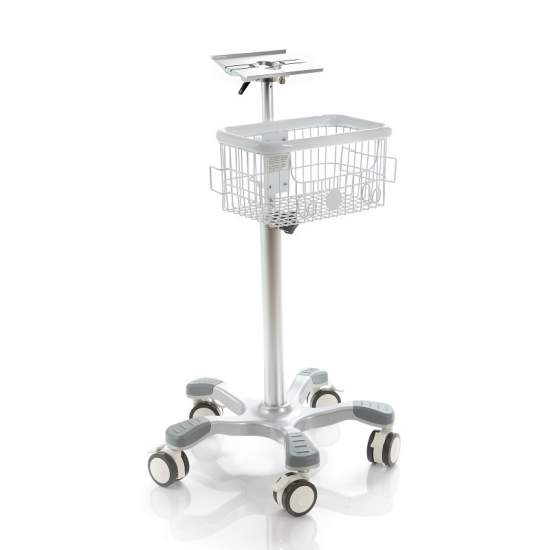Chariot en aluminium en option avec deux paniers.