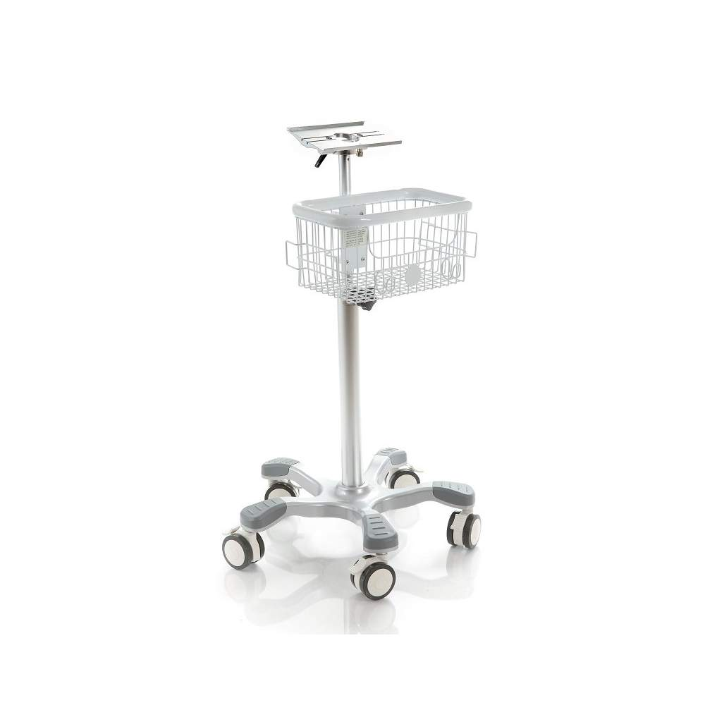 Optional aluminum trolley with two baskets.