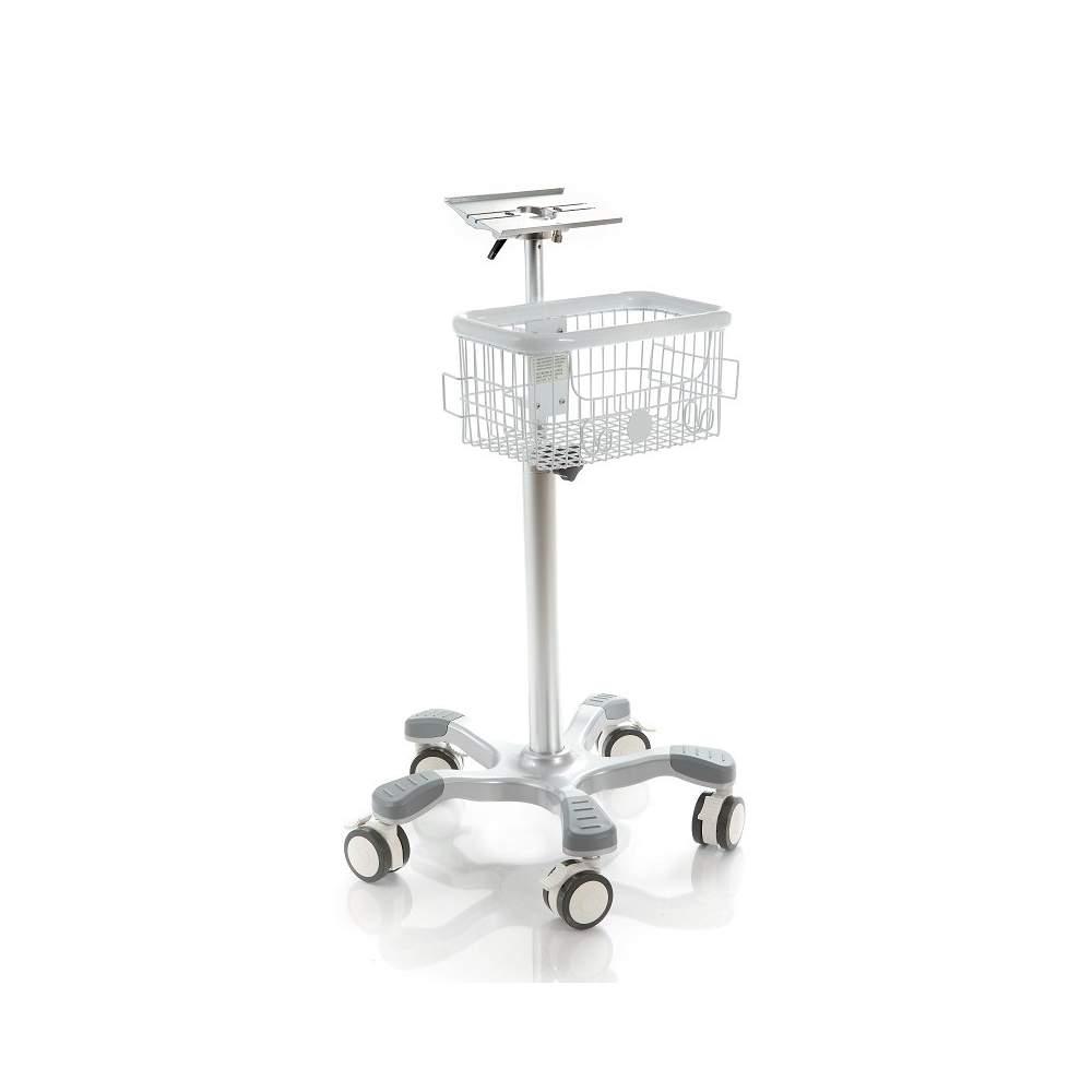 Trolley in alluminio opzionale con due canestri.