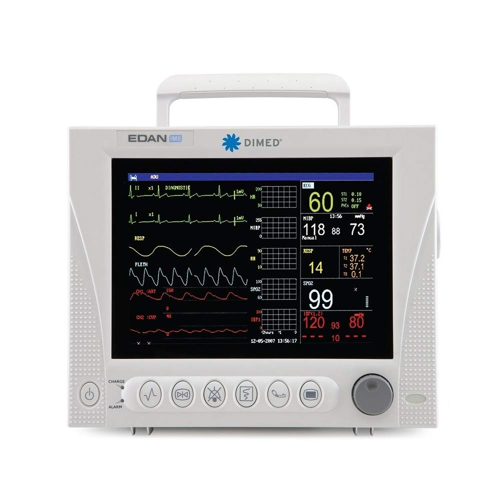 Multiparametrica stampante monitor paziente tre canali.