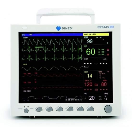 Multiparâmetros impressora monitor do paciente três canais.
