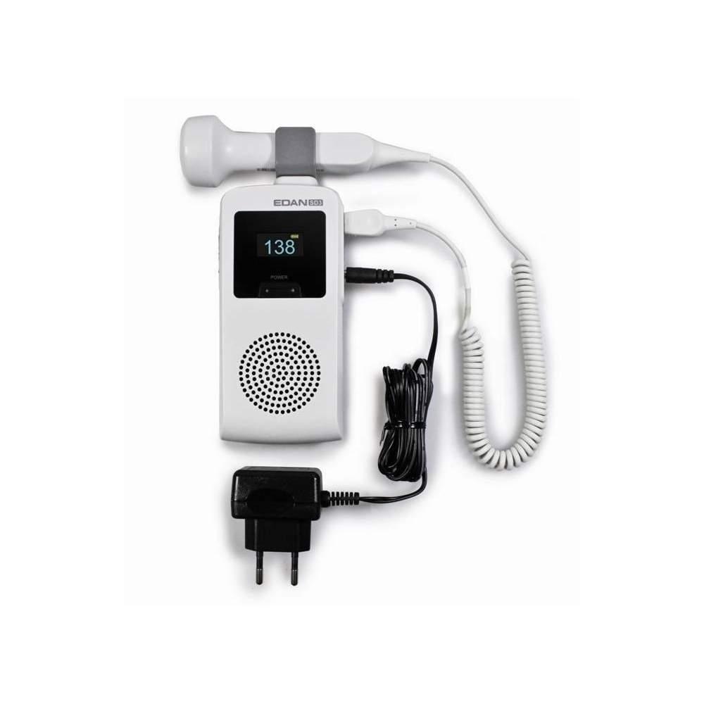 Doppler de ultrasonidos fetal con sonda de 3 mhz impermeable. - Doppler de ultrasonidos fetal con sonda de 3 mhz impermeable.