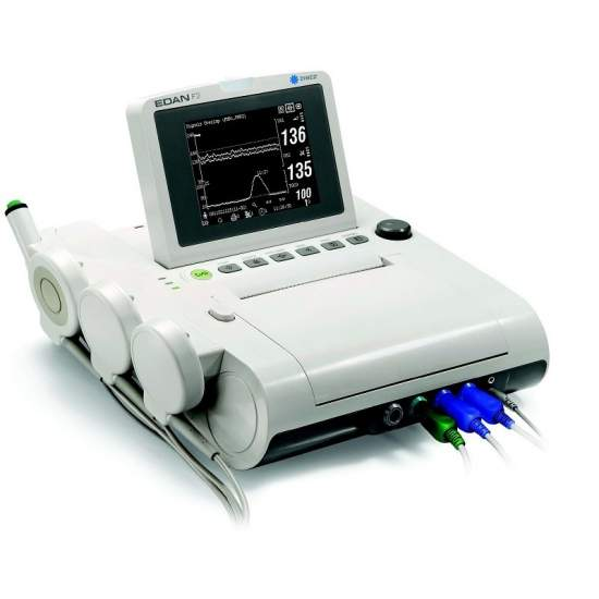 Fetal monitor b / w gêmeo biombo 5,6 polegadas LCD portátil