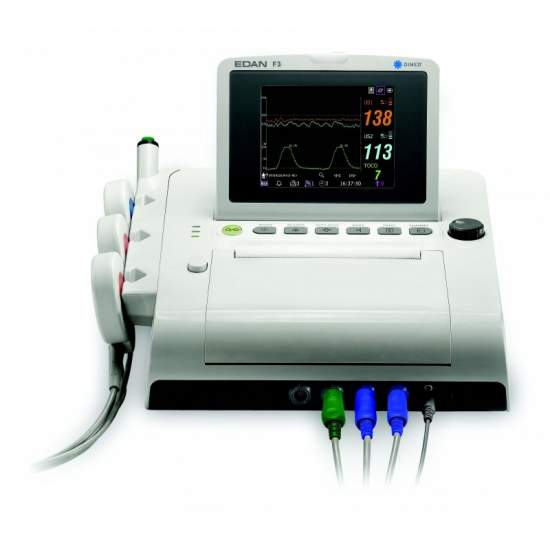 Fetal monitor with twin screen portable color