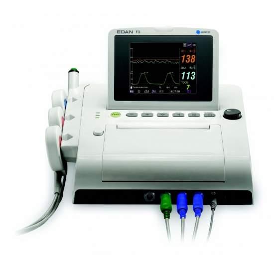 Monitor fetal com ecrã duplo cor portátil
