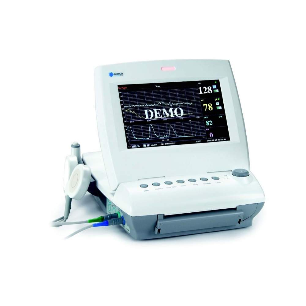 Twin fetal monitor with basic parameters