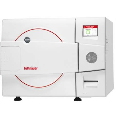 Horizontal autoclave automatic 28-liter class s flag front door Tuttnauer 5 trays.