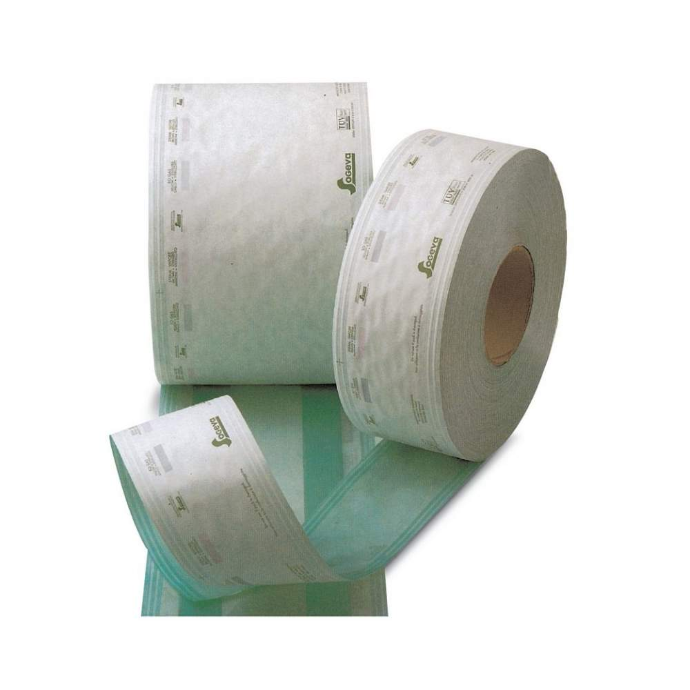 Medical background paper roll for Sterilization with steam or gas - 25 cm x 100 m