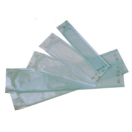 Buste di carta medicale con soffietto a vapore o sterilizzazione a gas. 150 x400 x50 mm. 500 buste