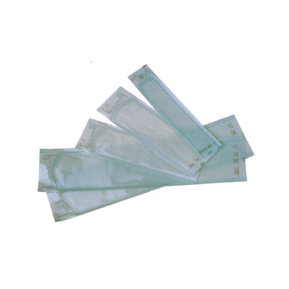 Medical paper envelopes with bellows steam or gas sterilization. 200 x400 x55 mm. 250 envelopes