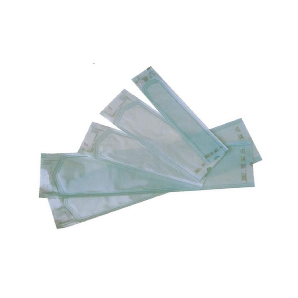 Buste di carta medicale con soffietto a vapore o sterilizzazione a gas. 250 x500 X65 mm. 250 buste