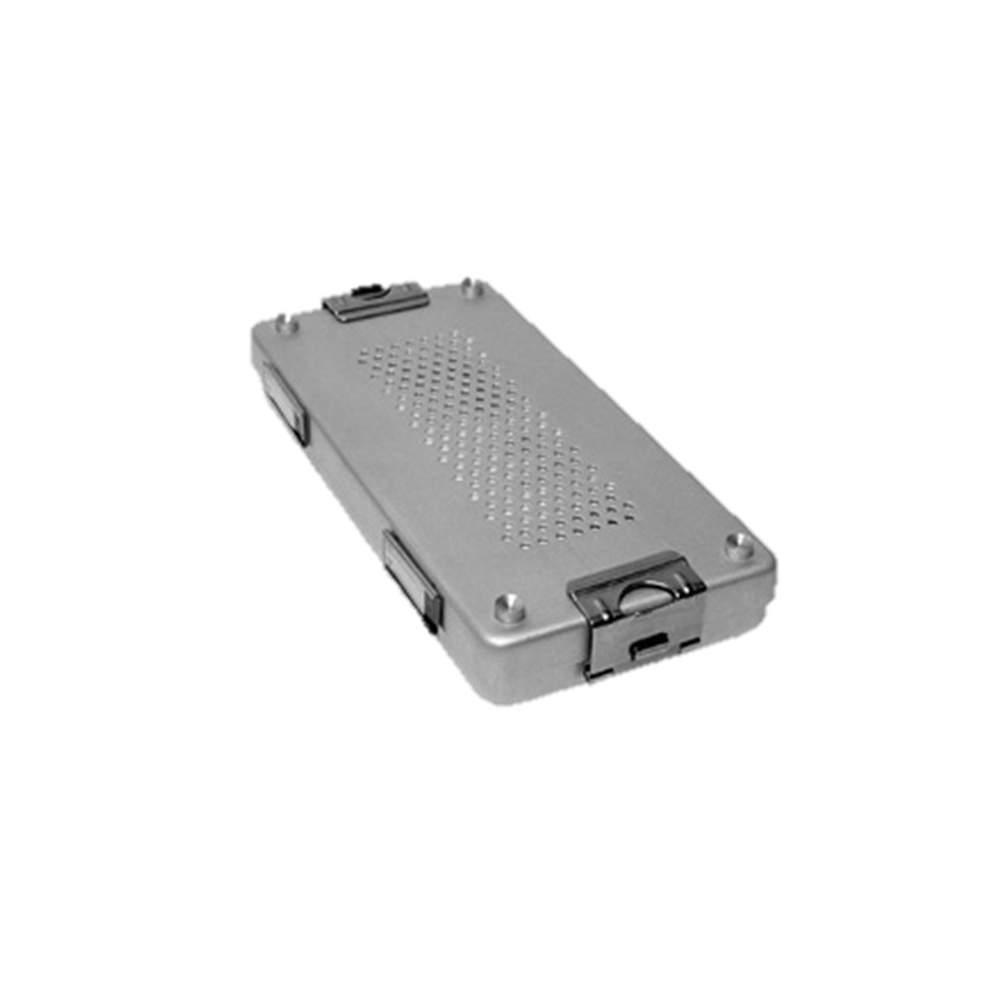 Contenedor de esterilizacion con tapa perforada aluminio anodizado de 30 x 14 x 10 cm. - Contenedor de esterilizacion con tapa perforada aluminio anodizado de 30 x 14 x 10 cm.