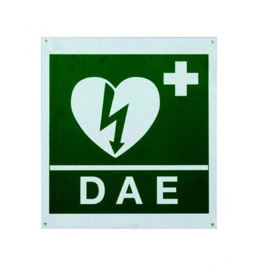 SIMBOLO MANIFESTO PARETE CON UN FRONTE defibrillazione.