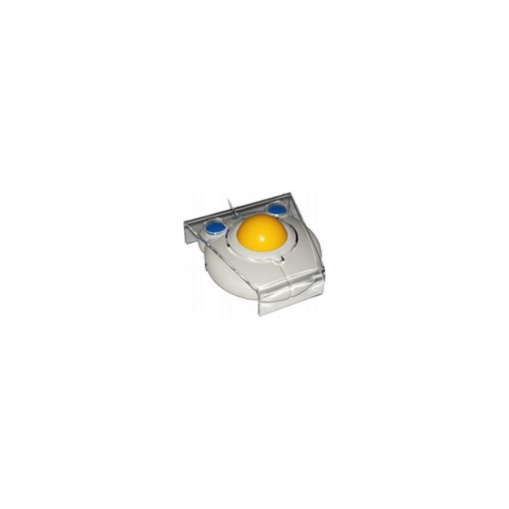 Bigtrack con cobertor y conectores - Ratón de bola con cobertor de metacrilato y adaptación para pulsadores