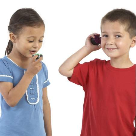 6 botões pequenos alto-falantes