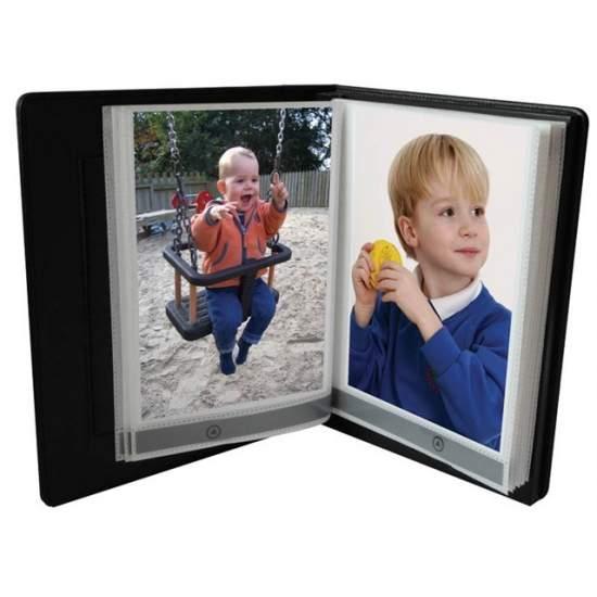 Comunicador álbum de fotos Plus - Álbum con 20 páginas con mensajes, tarjeta SD y auriculares