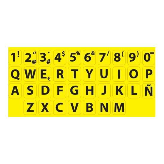Adhesivos de alto contraste para teclado estándar - Aumentan la visibilidad de las teclas