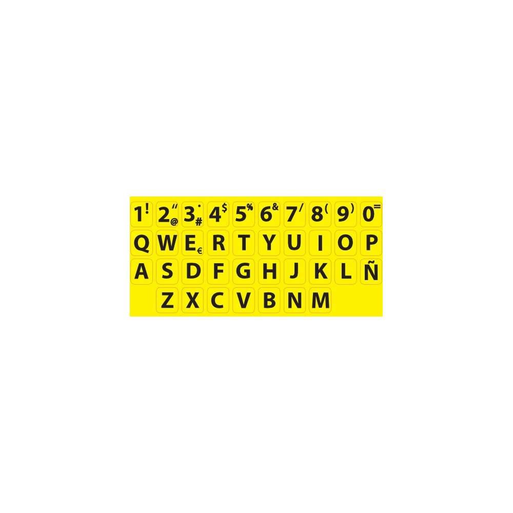 Adhésifs pour clavier de contraste élevé norme