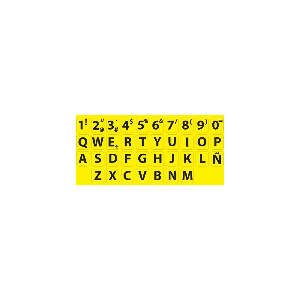 Colas para teclado alto contraste padrão