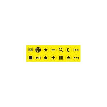 Adesivi per tastiera contrasto elevato livello